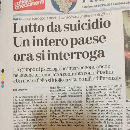 Articolo giornale di Vicenza Verona
